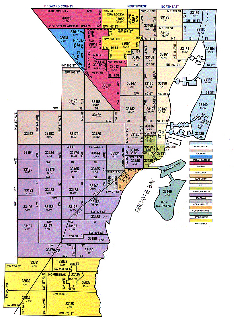 Miami Dade County Zip Code Map Miami Dade Map Zip Codes | ALCOHOLICS ANONYMOUS – MIAMI DADE